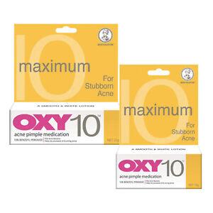 Oxy 10 Medicacion Del Acne Espinilla 10g 25g 10 De Peroxido De Benzoilo Fuerza Max Ebay