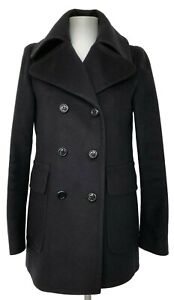 BURBERRY-LONDON-NAVY-DOUBLE-BREASTED-SHORT-COAT-2-US-4-UK-1350