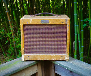 Fender-Champ-5F1-1959-Vintage-Guitar-Combo-Amp-Serviced-Free-Shipping