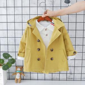 Trench Jacket Kids Windbreaker Autumn Baby Thin Children Outerwear Girls Jackets