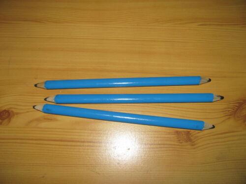 3 Stück Zimmermannsbleistifte oval mit 2 Mienen