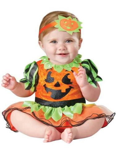 Child Infant Pumpkin Patch Princess Fancy Dress Costume Halloween Kid Boys Girls