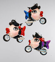 28-29013 Katherines Collection Biker Babes Chicks Kissing Fish Ornament Harley