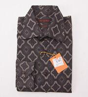 $425 Etro Milano Jacquard Print Patterned Cotton Shirt M Button-front