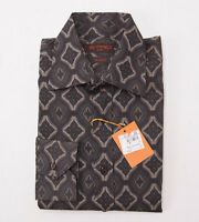 $425 Etro Milano Jacquard Print Patterned Cotton Shirt M Button-front
