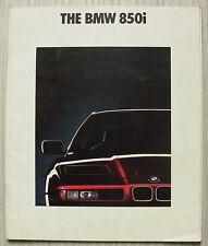 BMW 850i Car LF Sales Brochure Jan 1990 #011080121