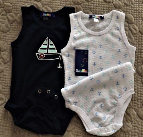 Sleeveless Baby Grow Bodysuits x2 100/% Breathable cotton mesh.