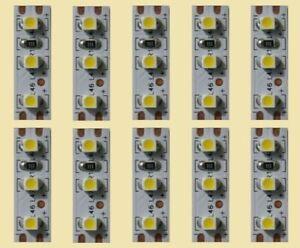 Mini LED Interior Lighting Warm White 2,5cm Lighting Houses Wagons 10 Piece S354