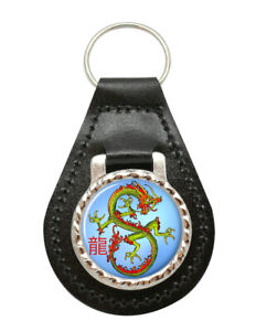Dragon-Chinois-Cuir-Cle-Fob