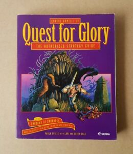 Vintage-1994-Quest-For-Glory-Strategy-Guide-Book-Covers-Games-I-IV-Sierra-PC