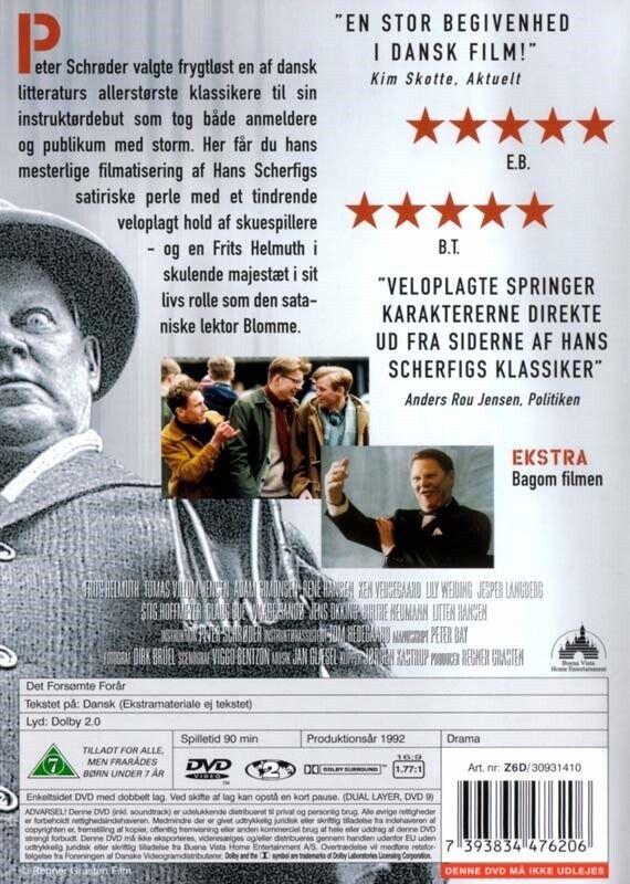 Det forsømte forår, instruktør Hans Scherfig, DVD