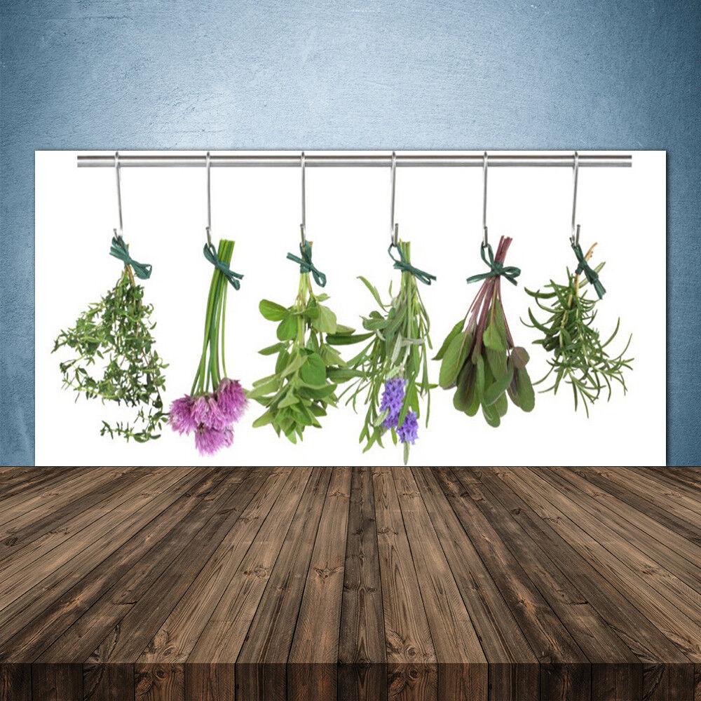 Crédence de cuisine en verre Panneau 140x70 Floral Fleurs Feuilles