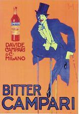 """TARGA VINTAGE """"1921 BITTER CAMPARI"""" PUBBLICITA', ADVERTISING, POSTER, APERITIVO"""