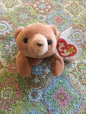 8.5 inch 4th Gen hang tag CUBBIE the Brown Bear TY Beanie Baby - MWMT/'s