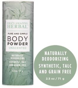 Body Powder Talc Free Dusting Powder Natural Deodorant Non GMO