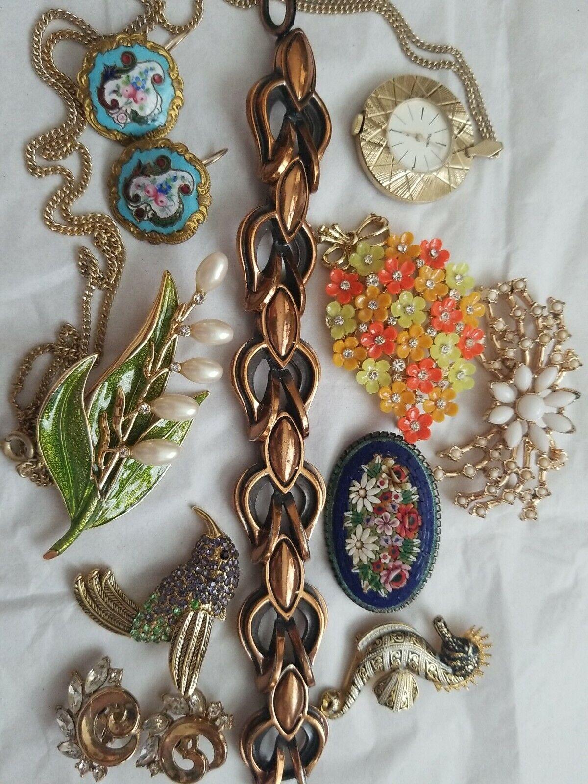 Vintage 50s Signed Costume Jewelry Lot Trifari Li… - image 1
