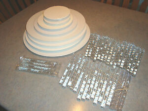 wedding cake dividers lot of wilton clear cake dividers and 8633