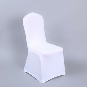 Wondrous Details About White Wedding Party Chair Cover Universal Stretch Polyester Spandex Chair Covers Inzonedesignstudio Interior Chair Design Inzonedesignstudiocom