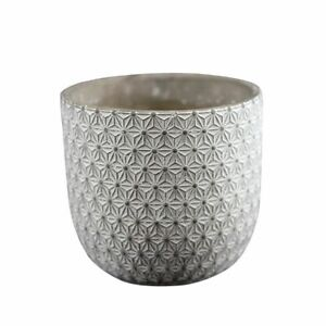 Round-Vase-Silicone-Mold-Concrete-Flowerpot-Mould-Embossed-Cement-Planter-Tool