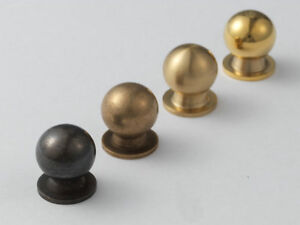 Image Is Loading Small Brass Knobs Tiny Knob Dresser Drawer Pull