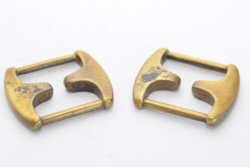 2x massive Rechteckring Messing Schlaufe für bis 30 mm Breite Vierkantring