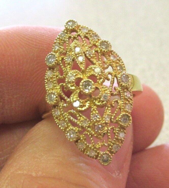 .50 ctw Ornate Diamond Ring Size 7  14k gold    Make Offer