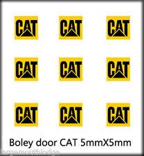 BOLEY VEHICLE MODEL DOOR DECALS 1/87 CAT 5MM X 5MM