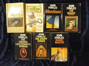 A SET OF 7 STIMULATING NOVELS by JOHN FOWLES     P/B * £3.25 UK POST*