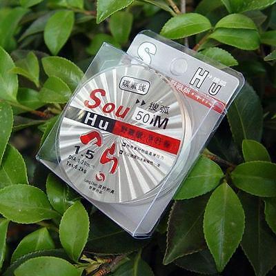 Strong 50m Clear Fishing Carbon Line Nylon Thread Fishing Lure Monofilament DE5