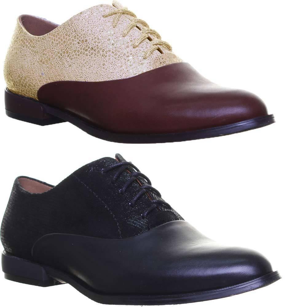 Justin Reece Damen Leder Derby Oxford Schuhe Zwei Getonte EU Grobe 36 - 42
