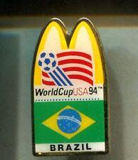 RARE PINS PIN'S .. MC DONALD'S RESTAURANT FOOTBALL SOCCER BRESIL CUP 1994 ~16