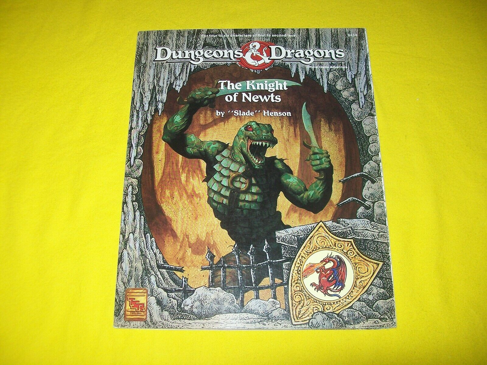 THE KNIGHT OF NEWTS DUNGEONS & DRAGONS TSR 9434 - 1 COMPLETE WITH STAND UPS