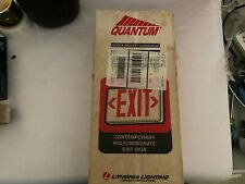 Lithonia Lighting Quantum Led Emergency Exit Sign Qm S W 3 R 120277 Red Letters