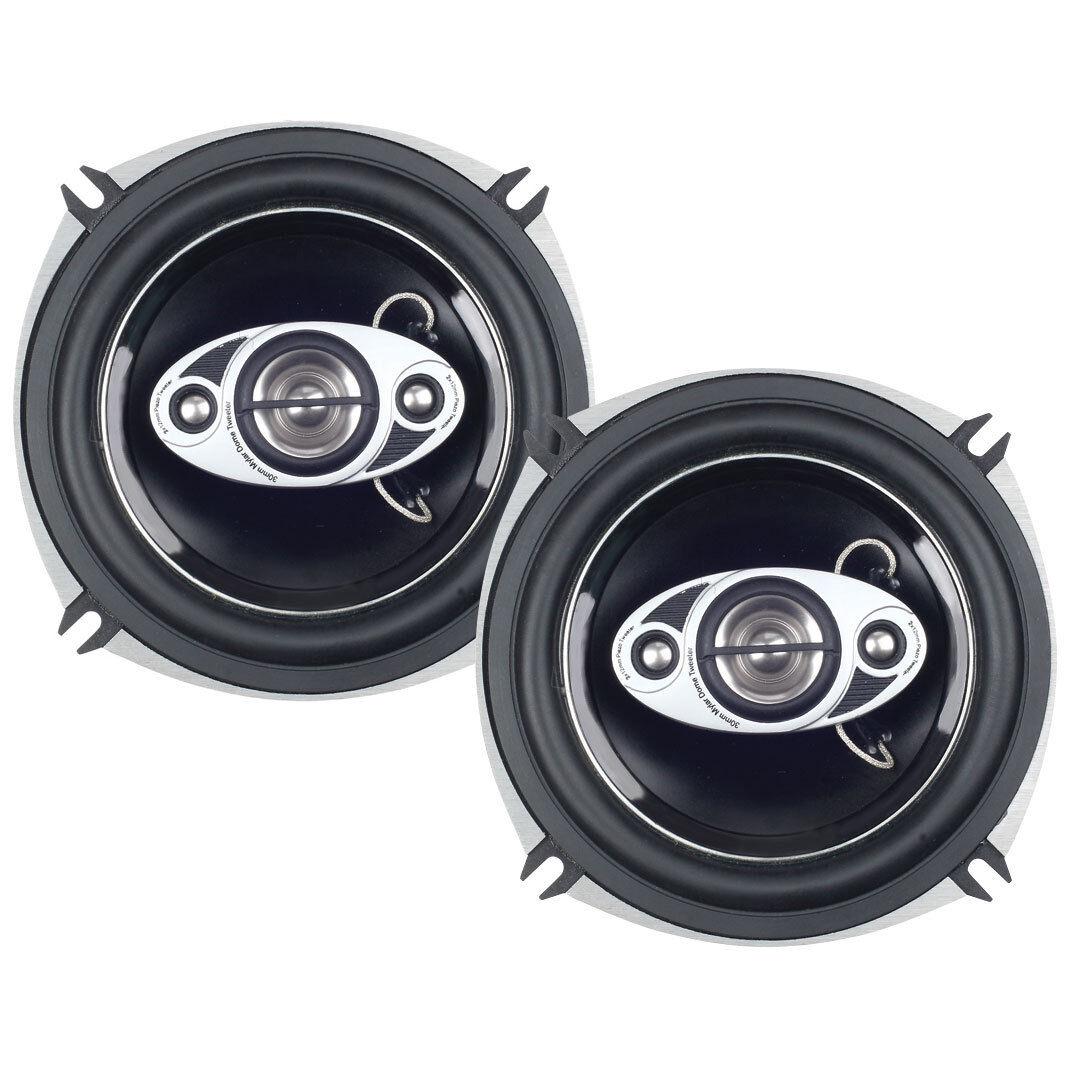 "BOSS P55.4C 600W 5.25/"" 4-Way Full Range Diecast Phantom Car Speakers"