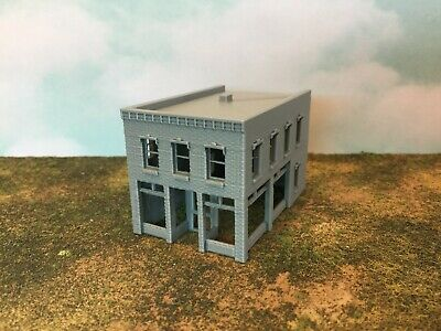 """Z Scale 1:220-3D Made in USA L Shape /""""Bates Style/"""" Small Town or City MOTEL"""