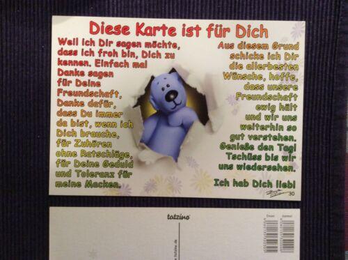 Schmunzeln 30 Tatzino Karten Lustige Bärchen Karten mit Sprüchen zu Art