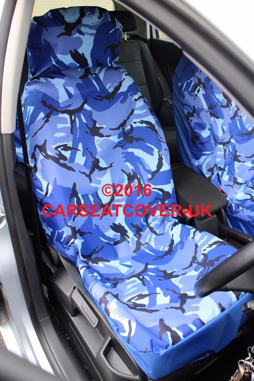 2 x Fronts Heavy Duty Black Waterproof Car Seat Covers VW Touran 2007-10