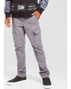 5042e8fa NEW Boys' Slim Fit Stretch Cargo Pants - Cat & Jack Gray 10H Husky ...