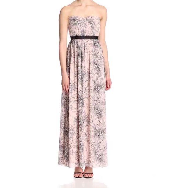 4dcc239aa869 BCBG Max Azria Soft Petal Combo Amber Strapless Dress Lhz6w172/l398 Size 6