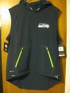 56e4bf2f1327 Image is loading NEW-NIKE-SEATTLE-SEAHAWKS-SIDELINE-FLY-RUSH-PERFORMANCE-