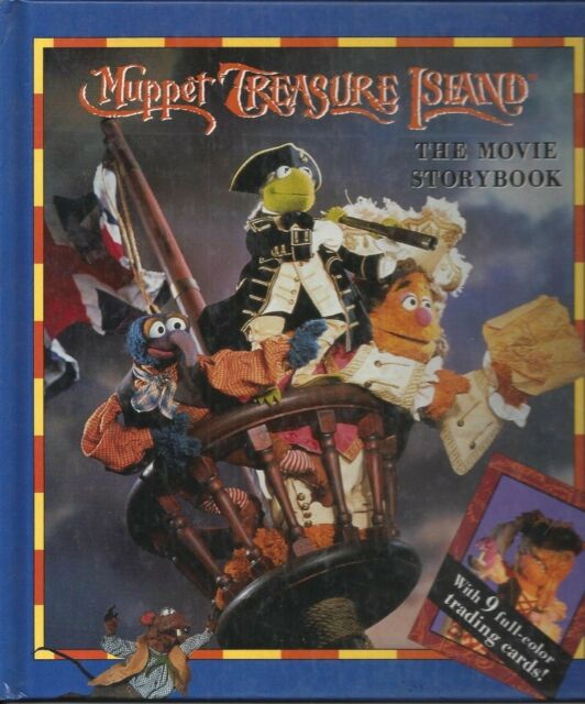 MUPPET TREASURE ISLAND THE MOVIE STORYBOOK (No trading cards) HARDCOVER 1996 vgc