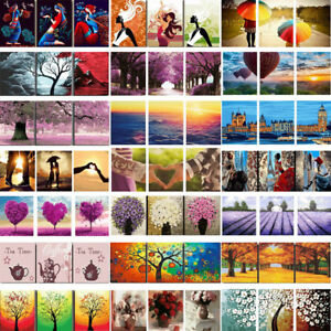 Image Is Loading 3 Pieces Canvas Diy Paint By Number Kit