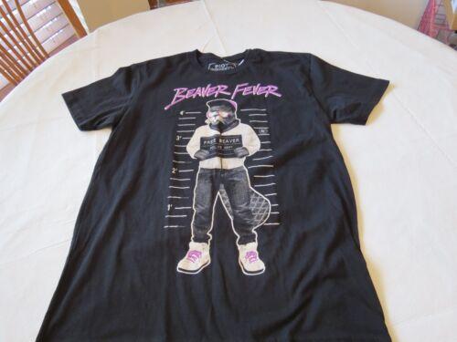 RIOT Society RARE Beaver Fever mug shot T shirt TEE Justin small Men/'s adult SS