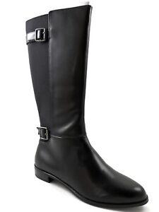 Bottes noires d'équitation 728217226722 Karen Scott pour 6 taille brillantes femmes 52 Sngn54xEwq