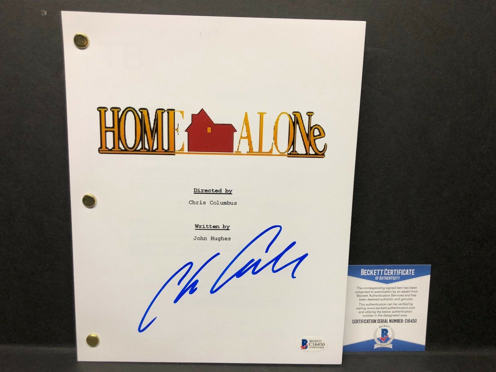 Chris Columbus Signed 'Home Alone' Full Movie Script BAS C16450