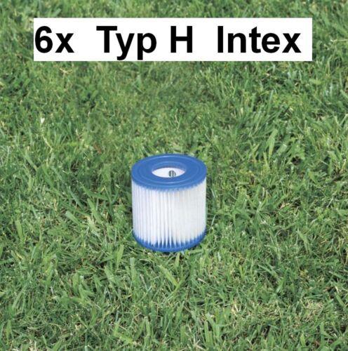 6x Cartouche filtre pour pompe de piscine Filtre Cartouche Filtres de Rechange Type H Intex 29007