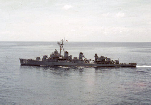 USN Navy Ship Print USS CAPERTON DD 650 US Naval Destroyer
