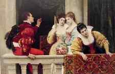 Eugene De Blaas On The Balcony A4 Print
