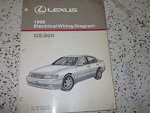 1996 LEXUS GS300 GS 300 Electrical Wiring Diagram Service ...