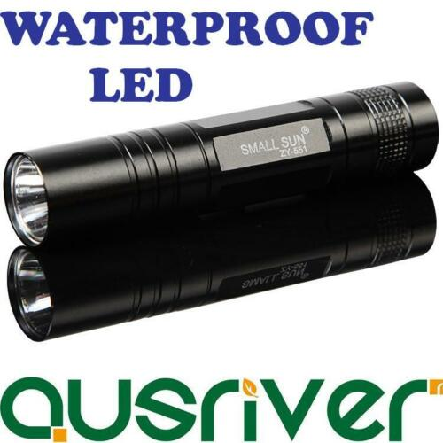 CLEARANCE Small Sun LED Flashlight Bright Waterproof Torch 95mm 100lm One Touch